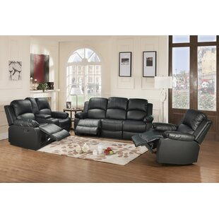 Deatrich 3 Pieces Reclining Living Room Set by Red Barrel Studio®