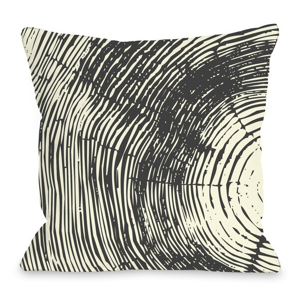 Tree Rings Throw Pillow by One Bella Casa