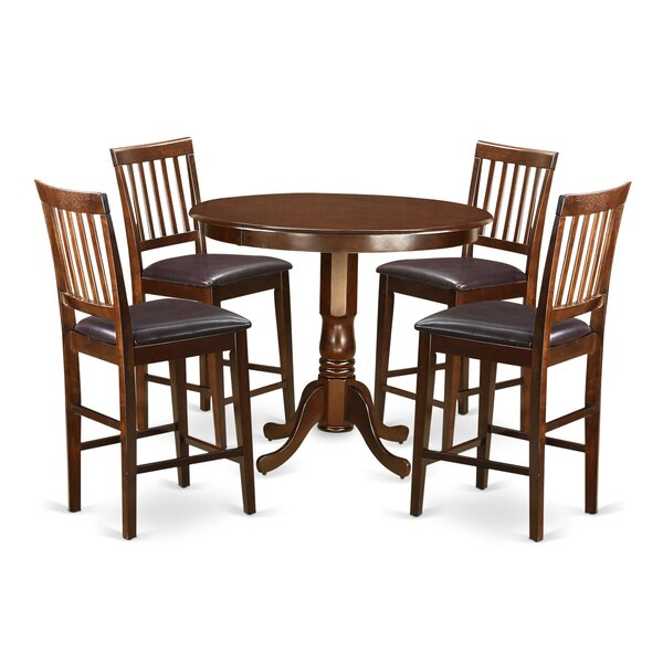 Trenton 5 Piece Pub Table Set by Wooden Importers