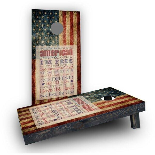 Proud to be an American Cornhole Boards (Set of 2) by Custom Cornhole Boards