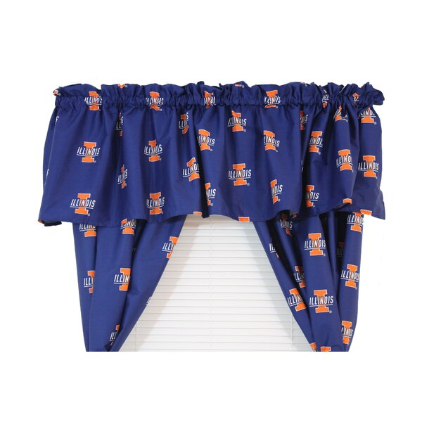 NCAA Illinois 84 Curtain Valance by College Covers