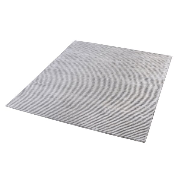 Lulu Hand-Woven Silver Area Rug by Trent Austin Design