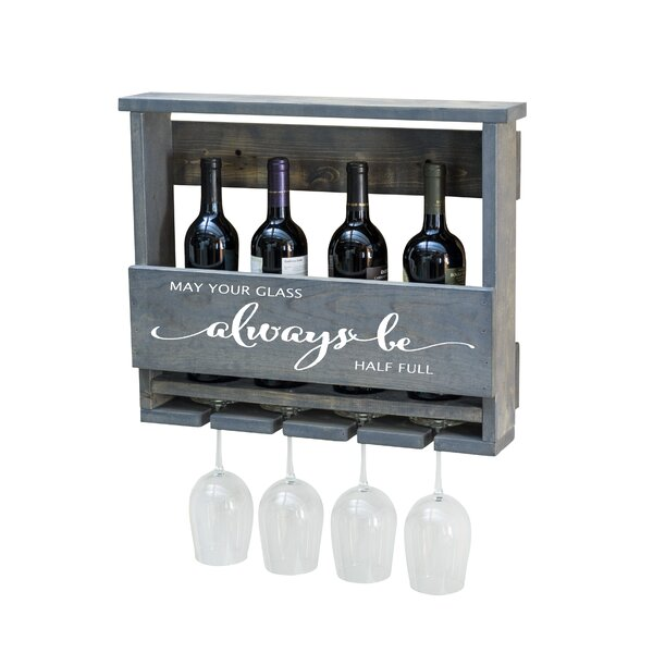 Bernon Always Be 5 Bottle Wall Mounted Wine Bottle and Glass Rack by Winston Porter Winston Porter