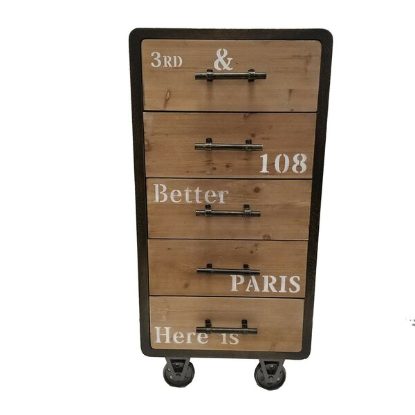 5 Drawer Industrial Cabinet Chest by The Urban Port