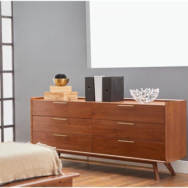 Moffitt 6 Drawer Double Dresser with Mirror by Brayden Studio