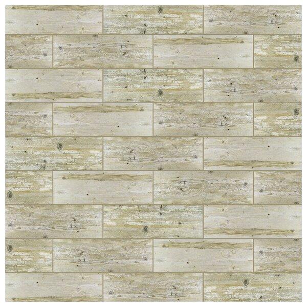 Alcazar 7.88 x 23.63 Ceramic Wood Look Tile in Matte Beige by EliteTile