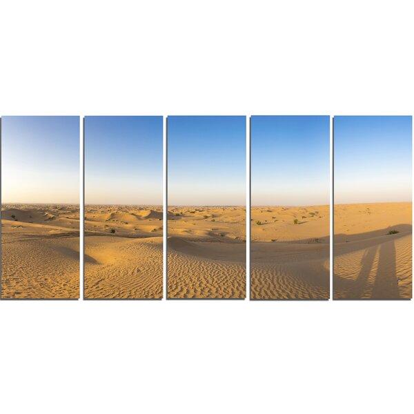 Sand Dunes Desert in Dubai 5 Piece Photographic Print on Wrapped Canvas Set by Design Art