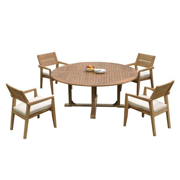 Maston 5 Piece Teak Dining Set