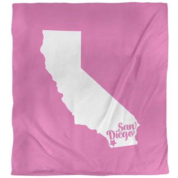 San Diego California Duvet Cover
