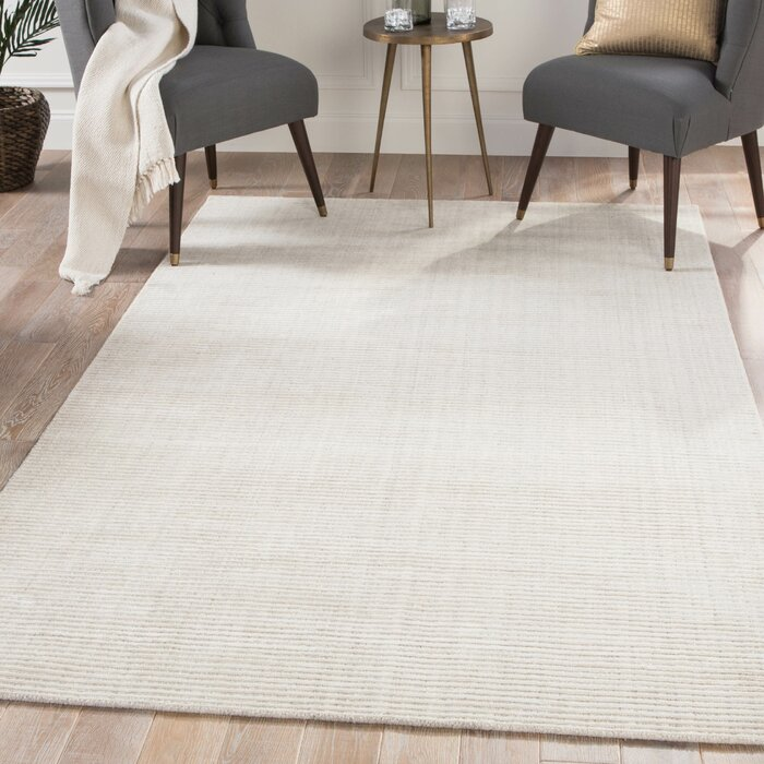 Eastvale Hand Loomed Off White Gray Area Rug