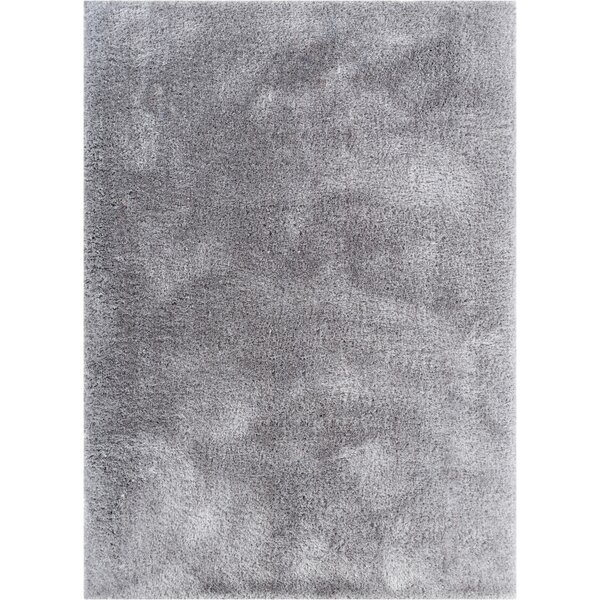 Puentes Serenity Shag Gray Area Rug by Wrought Studio