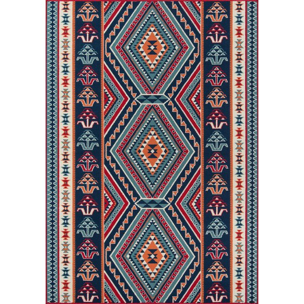 Gonde Red Indoor/Outdoor Area Rug by World Menagerie