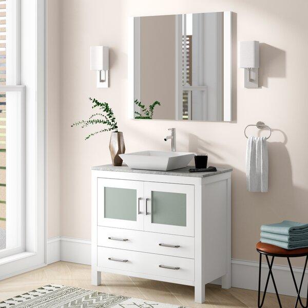 Cartagena 30 Single Bathroom Vanity Set with Mirror by Mercury Row