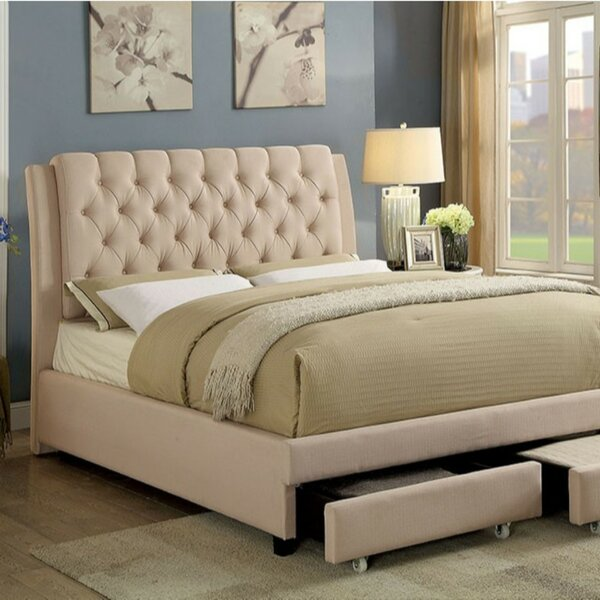 Marceau Contemporary Upholstered Platform Bed by House of Hampton