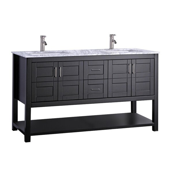 Mallouk Modern 60 Double Bathroom Vanity Set by Ivy Bronx