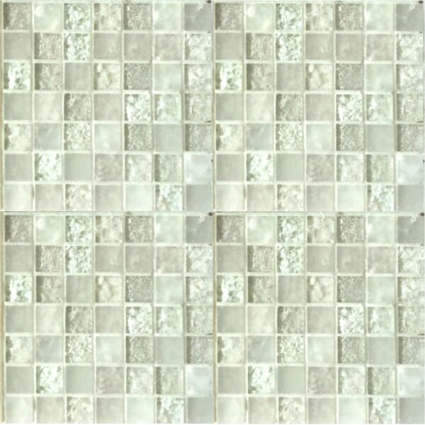 Lakeview 1 x 1 Glass Mosaic Tile in Nevis by Kellani