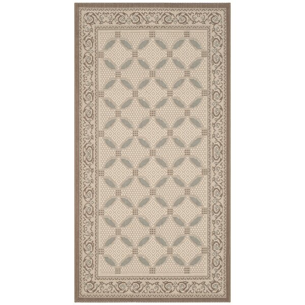 Beasley Beige/Dark Beige Indoor/Outdoor Rug by Astoria Grand
