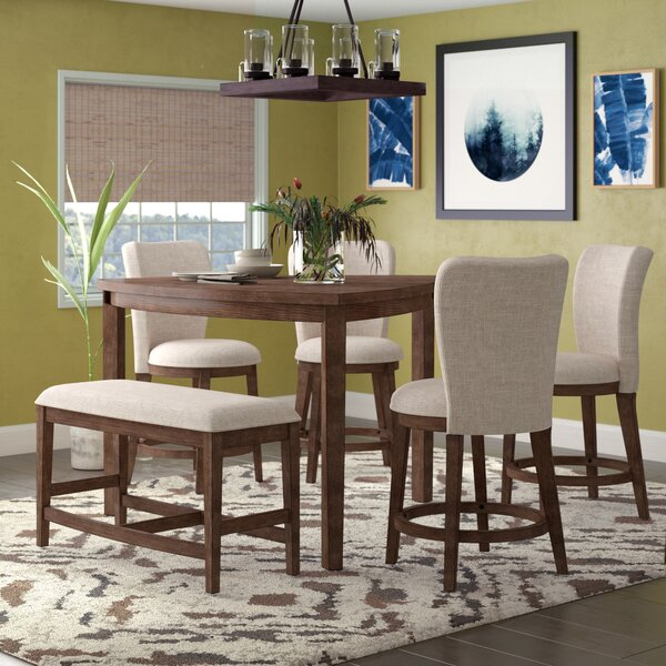 Buckminster 6 Piece Counter Height Dining Set by Bloomsbury Market