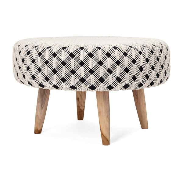 Boyer Handwoven Macrame Cocktail Ottoman by Union Rustic