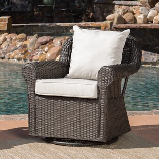 Cecilio Outdoor Swivel Rocking Chair Darby Home Co