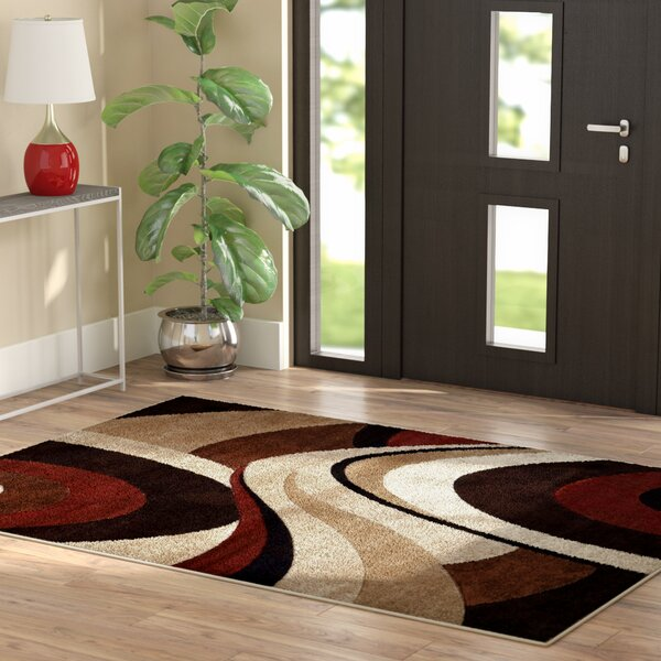 Giannini Brown/Beige Area Rug by Ebern Designs