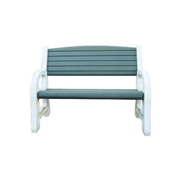 Giles Plastic Garden Bench by Highland Dunes