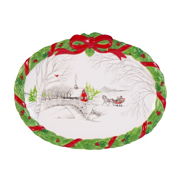 Vintage Holiday Cookie Platter by Fitz and Floyd