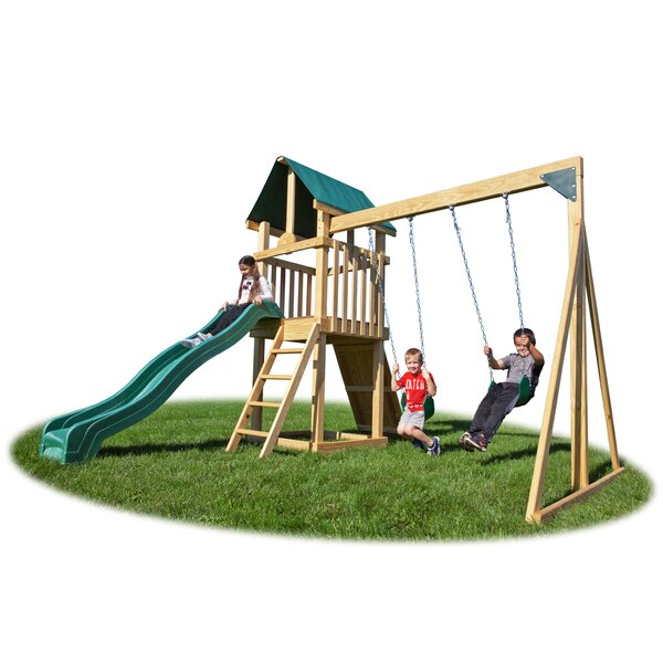 Backyard Hideout Play Swing Set by YardCraft
