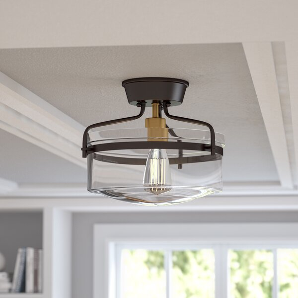 Rhinebeck 1-Light Semi Flush Mount by Alcott Hill