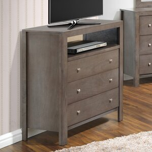 Grey Bedroom Media Chests You\'ll Love | Wayfair