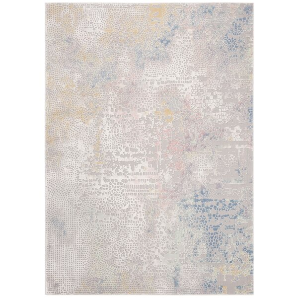 Wendi Gray/Gold Area Rug by Williston Forge