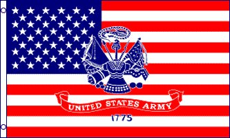 USA with Army Logo Traditional Flag by Flags Importer