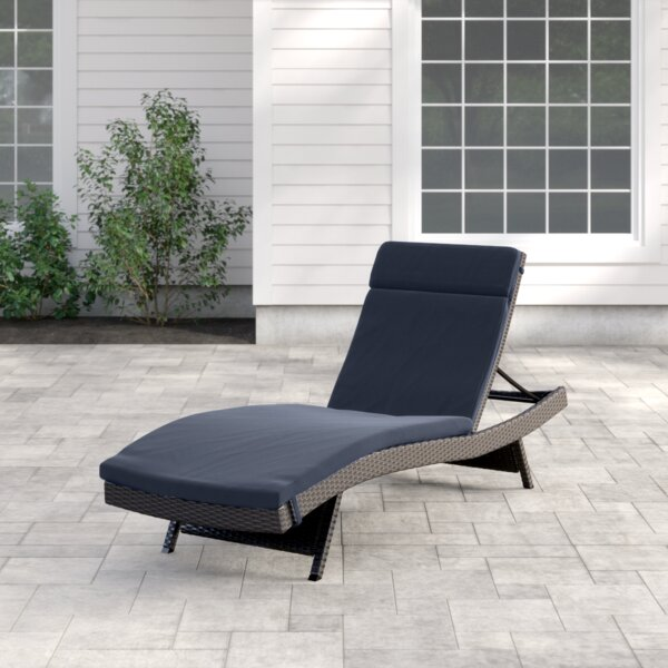 Rebello Reclining Chaise Lounge with Cushion