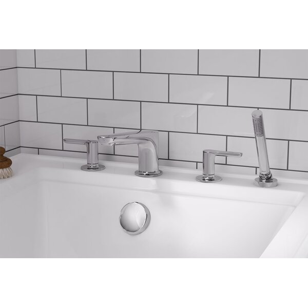 Studio S Double Handle Deck Mounted Roman Tub Faucet Trim with Diverter and Handshower by American Standard American Standard