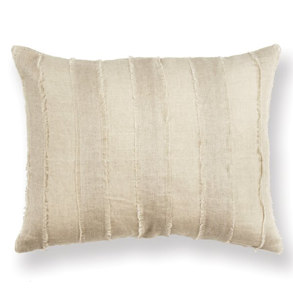 Jopling Cosette Tattered Stripe Linen Throw Pillow by Ophelia & Co.