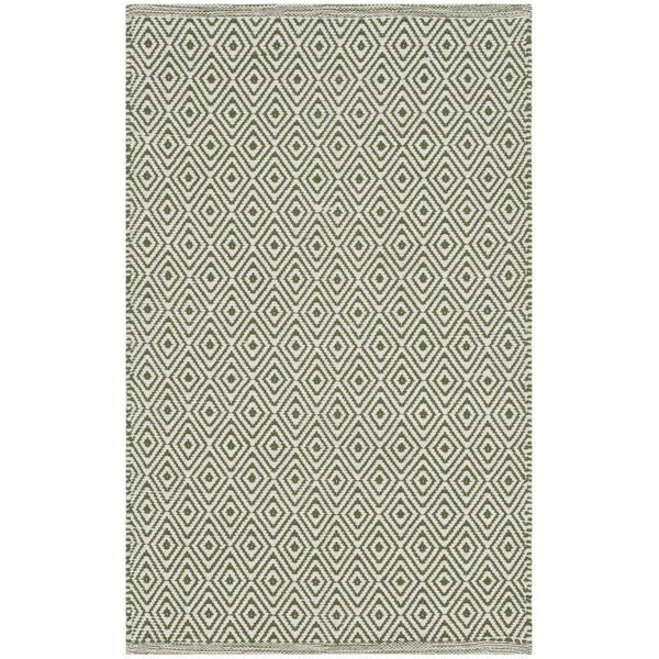 Shevchenko Place Hand-Woven Ivory/Green Area Rug by Wrought Studio