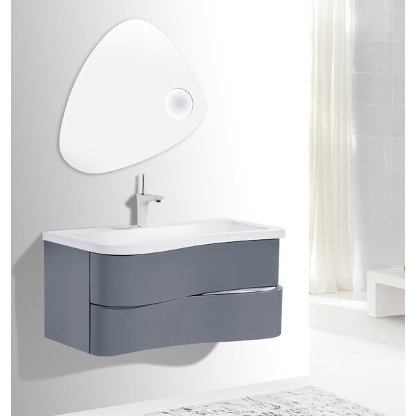 Grisby Iron 36 Wall-Mounted Single Bathroom Vanity Set by Orren Ellis