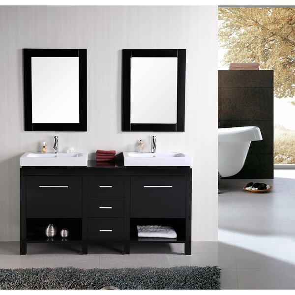 Oakley 60 Double Bathroom Vanity Set with Mirror by Home Loft Concepts