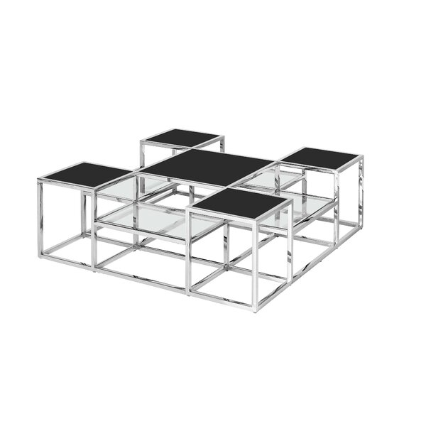 Everly Quinn Glass Top Coffee Tables