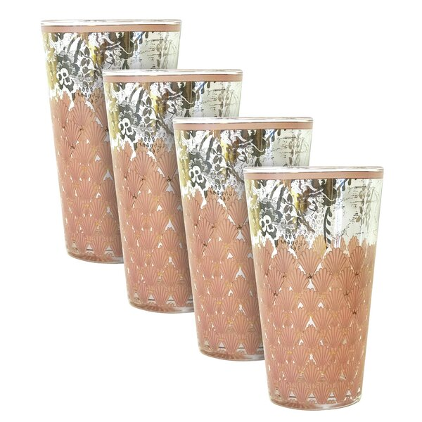 Naples 16 oz. Every Day Glass (Set of 4) by Patina Vie