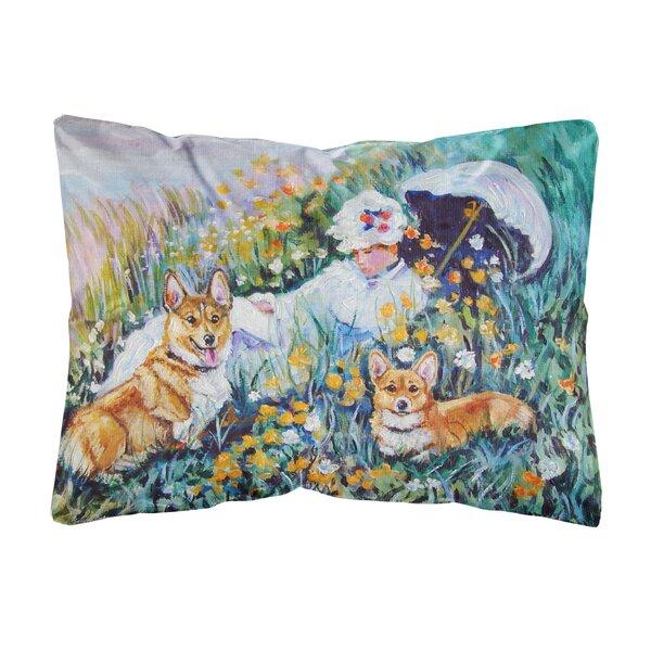 Seawell Corgi Classics Fabric Indoor/Outdoor Throw Pillow by Winston Porter