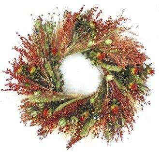 22 Fall Grasslands Wreath by Dried Flowers and Wreaths LLC