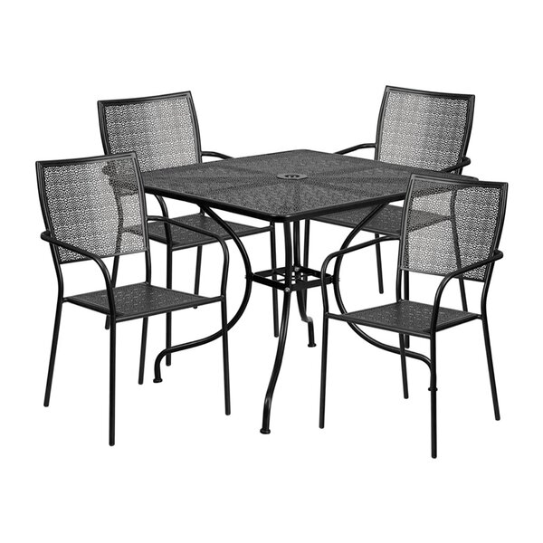 Speidel Outdoor Steel 5 Piece Dining Set by Winston Porter