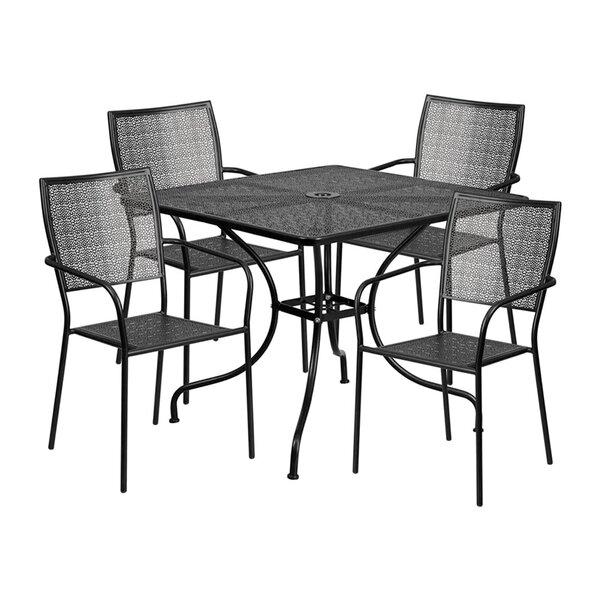 Speidel Outdoor Steel 5 Piece Dining Set by Winston Porter