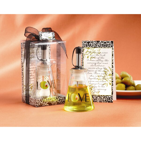 Olive You! Glass Love Oil Bottle in Signature Tuscan Box (Set of 10) by Andover Mills