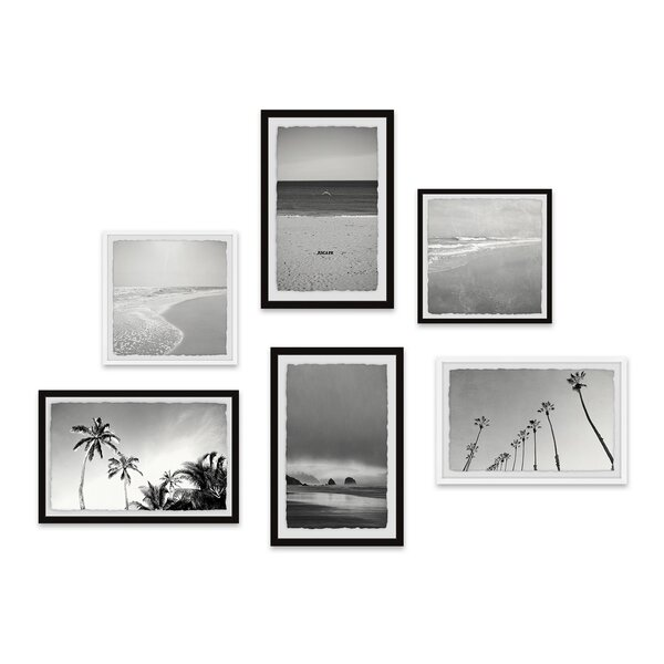 Seaboard Scenes Hexaptych by Rosecliff Heights