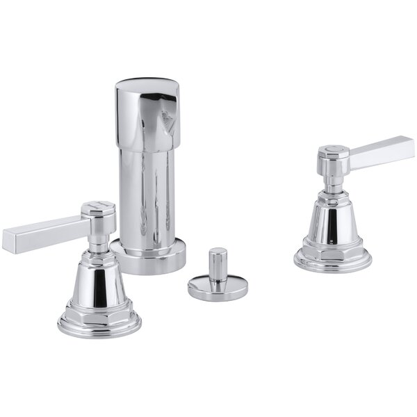 Pinstripe Pure Vertical Spray Bidet Faucet with Lever Handles by Kohler