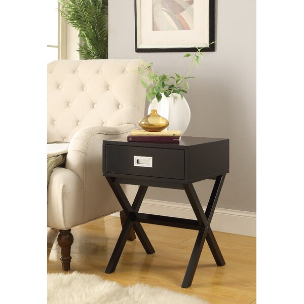Mahaffie End Table with Storage by Ebern Designs Ebern Designs