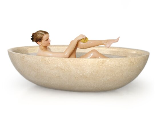 Roccia Natural Stone 74 x 41 Bathtub by D'Vontz