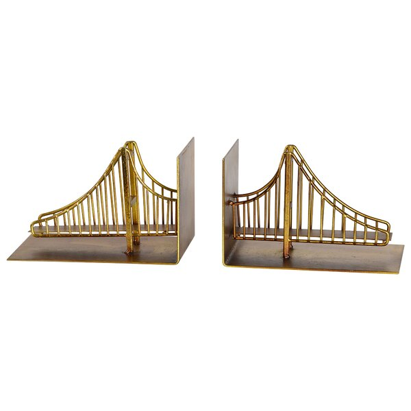 Contemporary Metal Bookends (Set of 2) by 17 Stories